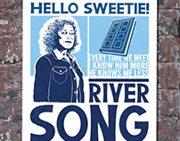 River Song from Dr. Who: Faux Letterpress