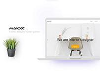 Makxc-Landing page