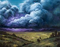 «Highstorm» landscape painting