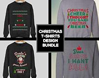 Christmas T-Shirt Design Bundle