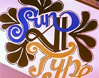 Project Sun Type for festival opening - Hand Letter.