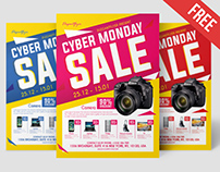 Free Cyber Monday Sale Flyer Template