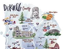 Dekalb County map