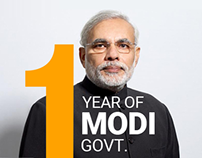 Viral Infographics Case Study : One Year of Modi Govt