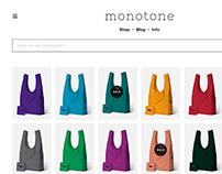 Monotone One-page E-commerce Store Concepts