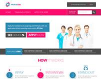 Medical Jobs UI/X Website Design