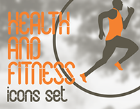 Health and Fitness - icons set