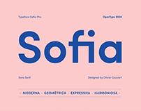 Typeface Sofia Pro.