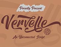 VERVELLE - FREE SCRIPT FONT