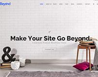 Beyond WordPress theme - Home Slider