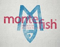 Фирменный стиль для для сети магазинов Montefish
