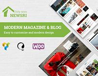 Newsri - Magazine Wordpress Theme