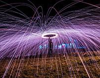 Spinnin steel wool