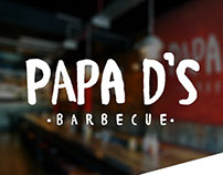 Papa D's Barbecue Branding