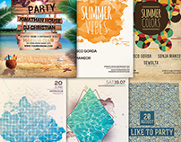 Summer Party Psd Flyer Bundle