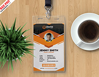 Clean and Corporate ID Card PSD Template