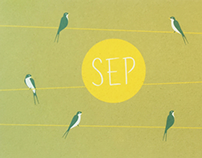 Sep, birth card