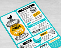 Burger menu restaurant template