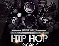 Hip Hop Music - Free PSD Flyer Template