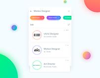 Job search. UI Design.