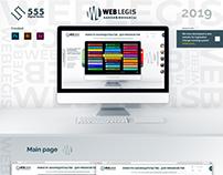 "Landing Page ""Web Legis"""
