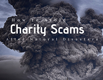 avoid charity scams after natural disasters
