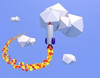 Rocket Toy - 3D