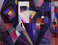 Johannes Itten, Composition in Blue, 1918