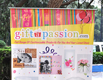 Standee Design for Giftapassion.com