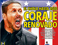 Diego Simeone, Illustrated for Record Newspaper cover