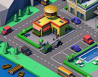 Isometric city - 3D graphic