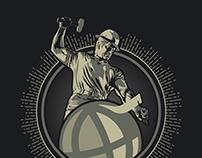 Purdue University Global - Boilermaker Illustration