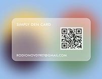 Glassmorphism Business Card