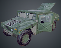 Hummer M998 HMMWV - 3D Low Poly