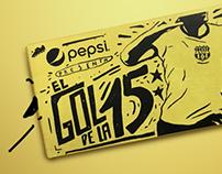 Pepsi , el gol de la 15