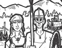 """Norse Gothic"" Viking fest logo design"