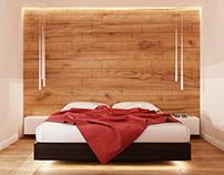 Bedroom in wood