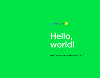 Make New Yorker Happy: Hello, world!