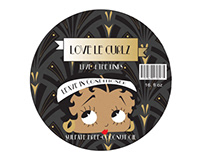 Love le Curlz Art Deco logo