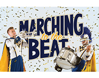 Marching to the Beat story design, WVU Magazine