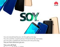 Campaña SOY de Huawei