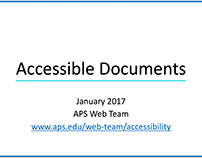 Accessible Documents Training