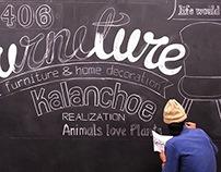 Chalkboard Mural design