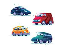 Vehicle Illustrations Set