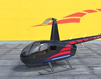 Aircrafts - Blender 3D - Robinson R44