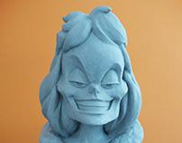 Cruela DeVil Sculpture