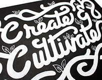 Create & Cultivate - Typography