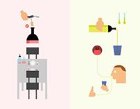 Wine & Olive Proof Infographics