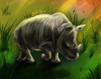 Illustration ; The Sumatran Rhinoceros