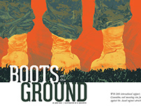 Illustration | Editorial Layout: Boots on the Ground